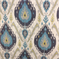 Samarkand Peacock Polyester Velvet Ikat Upholstery Fabric by Braemore - Order-a-swatch