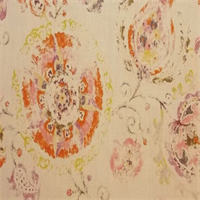 Junoon /MNat Chili Stamped Floral Drapery Fabric - Order a Swatch
