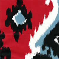 Premier Ikat Carmine Drapery Fabric by Premier Prints 30 Yard bolt