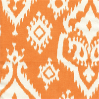 Raji Apache Orange Cotton Ikat Drapery Fabric by Premier Prints  30 Yard bolt