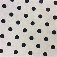 Polka Dots Linen Black Drapery Fabric by Premier Prints - Order-a-swatch