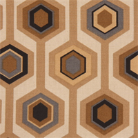 Murdoch Paramount Camel Cotton Geometric Drapery Fabric by Swavelle Mill Creek - Order a Swatch