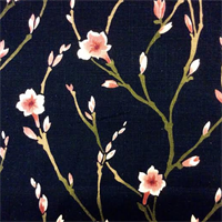 Cranhill Cliffside Midnight Floral Cotton Drapery Fabric by Swavelle Mill Creek  - Order a Swatch