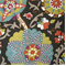 Ladbroke Licorice Floral Linen Look Drapery Fabric  - Order-a-swatch