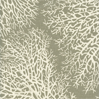 Ariel Driftwood Cotton Coral Reef Design Drapery Fabric - Order a Swatch