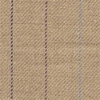 Olympic Stripe Flax/Plum Linen Upholstery Fabric - Order a Swatch