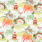 Neo Toile Coral Orange Print Drapery Fabric by Robert Allen - Order a Swatch