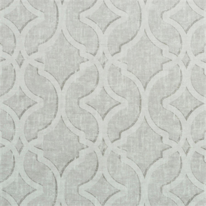 Nuri Pearl Grey Printed Velvet Upholstery Fabric By P Kaufmann