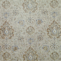 Sariz Pearl Grey Blue Washed Look Printed Floral Velvet Upholstery Fabric by P. Kaufmann Order a Swatch