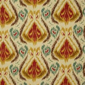 Balotelli Cliffside Tan Southwest Ikat Print Drapery Fabric by Swavelle
