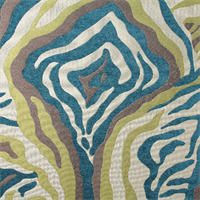 Euro Turquoise Blue Geometric Woven Upholstery Fabric