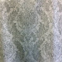 Downtown 196 Gray Floral Washed Look Drapery Fabric