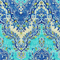 Palace Suri Prussian Blue Floral Drapery Fabric by Waverly
