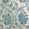 Holi Festival Prussian Blue Floral Drapery Fabric by Waverly