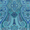 *1 YD PC--Paisley Pizzazz Delft Blue Paisley Floral Drapery Fabric by Waverly