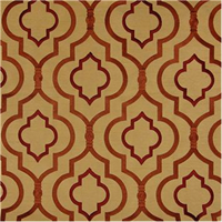 Agnes Turmeric Copper Geometric Faux Silk Drapery Fabric