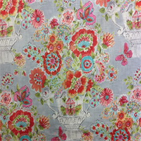 Blissful Bouquest 272 Sherbert Pink Floral Drapery Fabric by Waverly