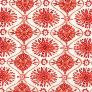 Wonderstruck Papaya 262 Orange Geometric Ornament Drapery Fabric