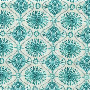 Wonderstruck Reef Blue Geometric Ornament Design Drapery Fabric