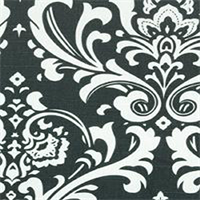 Ozborne Charcoal Grey Slub Floral Drapery Fabric by Premier Prints