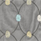 Puff Embroidered Vapor Grey Drapery Fabric by P Kaufmann Order as Swatch