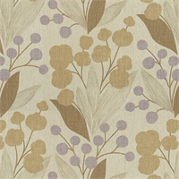 Spring Purple Floral Drapery Fabric by Famous Maker Swatch
