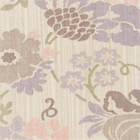 Soft Whisper Amethyst Purple Floral Drapery Fabric by Braemore
