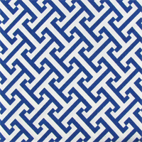 Cross Section Blue Bonnett Greek Key Drapery Fabric