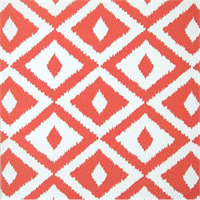 OD Aztec Coral Geometric Indoor/Outdoor Fabric