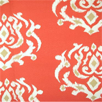 OD Pamilla Coral Geometric Ikat Indoor/Outdoor Fabric