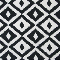 OD Aztec Black Ikat Print Indoor/Outdoor Fabric