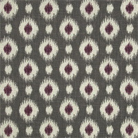 Mini Ikat Grey Linen Look Drapery Fabric by Famous Maker
