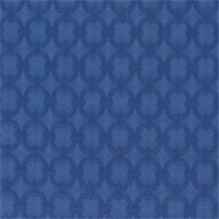 Full Circle Solid Blue Marine Circles Design Matelasse Fabric by Waverly