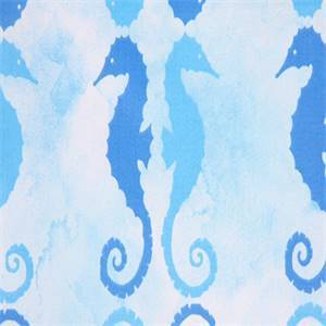 Side by Side Bliss Seahorse Cotton Drapery Fabric