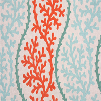 Coral Splendor Coral Indoor/Outdoor Reef Fabric Order a Swatch