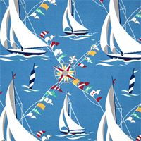 Set Sail Atlantic Sailboat Indoor/Outdoor Fabric