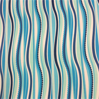 OD Wave Navy Indoor/Outdoor Vertical Wavy Stripe Design Fabric