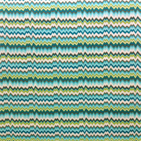 OD Vibe Peacock Blue Uneven Zig Zag Horizontal Stripe Fabric