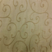 Branzac Sand Solid Embroidered Scroll Drapery Fabric by Swavelle Mill Creek