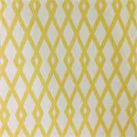 Geometric Yellow and Ivory Drapery Fabric