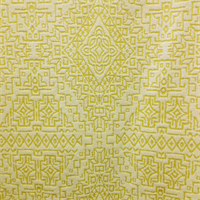 Tangier Sun Yellow Woven Relief Upholstery Fabric
