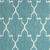 Monaco Ikat Mist Blue Drapery Fabric