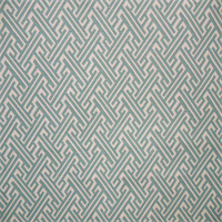 Trellis Mist Blue and Ivory Geometric Print Drapery Fabric