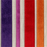 Barnum Carnival Multi Purple,Red Cut Chenille Stripe Upholstery Fabric Order a Swatch