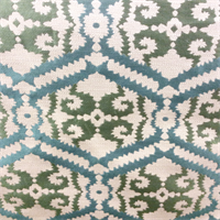 Peekaboo So Kind Green Woven Geometric Upholstery Fabric