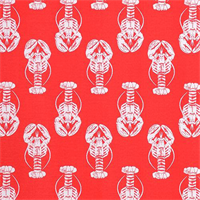 ODT Lobster Calypso Red Orange Indoor Outdoor Upholstery Fabric