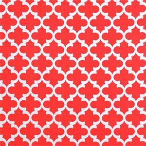 Fynn Calypso Red Orange Geometric Indoor Outdoor Fabric by premier Prints