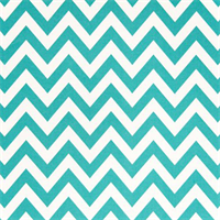 Zig Zag Ocean Blue and White Indoor Outdoor Fabric by Premier Prints