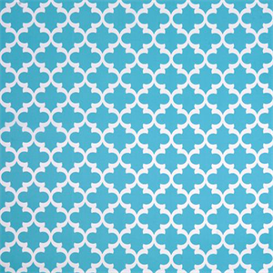 Fynn Ocean Blue and White Geometric Indoor Outdoor Fabric by Premier ...