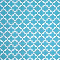Fynn Ocean Blue and White Geometric Indoor Outdoor Fabric by Premier Prints